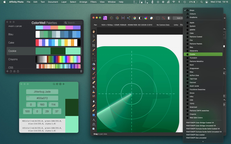 ColorWell 7.2.1 Mac 破解版 优秀的拾色器和调色板生成工具